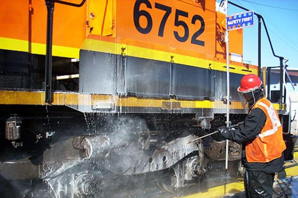Railroad Container Cleaning